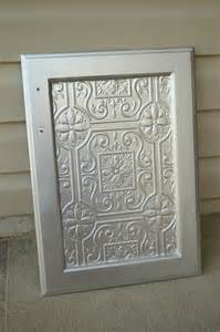 Tin Cabinet Doors faux tin tile cabinets