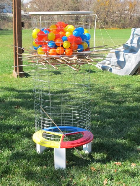 diy backyard kerplunk game outdoor furniture design and