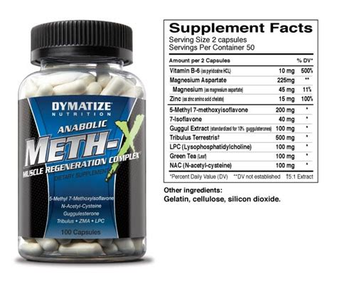 protein 7 synthesis nutrition facts dymatize meth x anabolic complex 100 caps