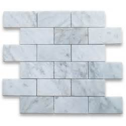 carrara white italian carrera marble subway brick mosaic tile mini glass for backsplashes showers amp more