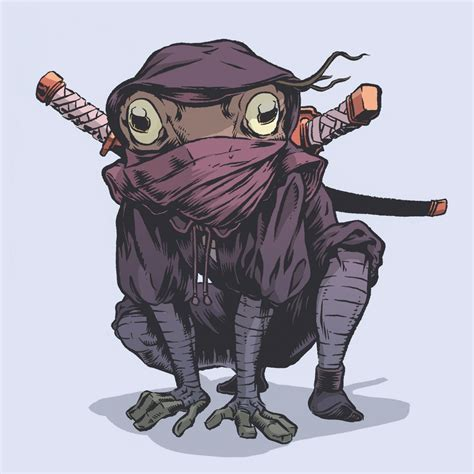samurai frog warrior art the lilypad seven geektyrant
