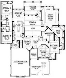 Luxury House Floor Plans by Single Story House Plans 3000 Sq Ft Search