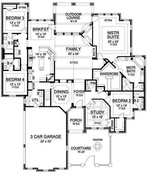 one story house plans single story house plans 3000 sq ft google search
