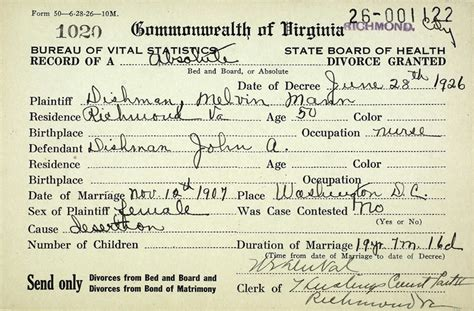 Virginia Divorce Court Records The Dishman Family Of Virginia Dishman Mann Divorce Record