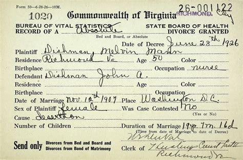 Divorce Records Richmond Va The Dishman Family Of Virginia Dishman Mann Divorce Record