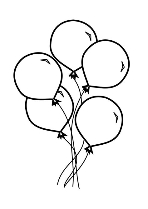 coloring pictures of birthday balloons baloons coloring galerry wallpaper