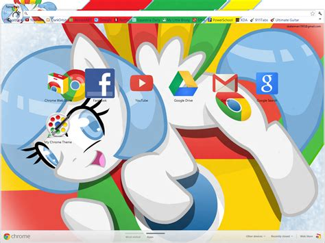 Firefox Themes My Little Pony | chrome pony theme for google chrome by xgodofmodzx on