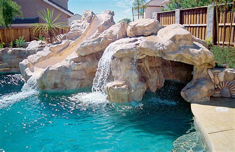 pools with waterfalls rock waterfalls blue haven custom swimming pool and spa