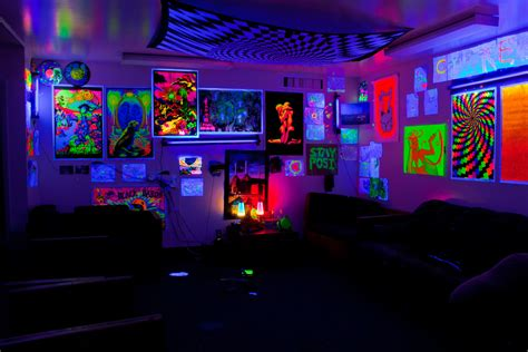 trippy bedroom decor cypress 7 i miss it my blacklight dorm living room