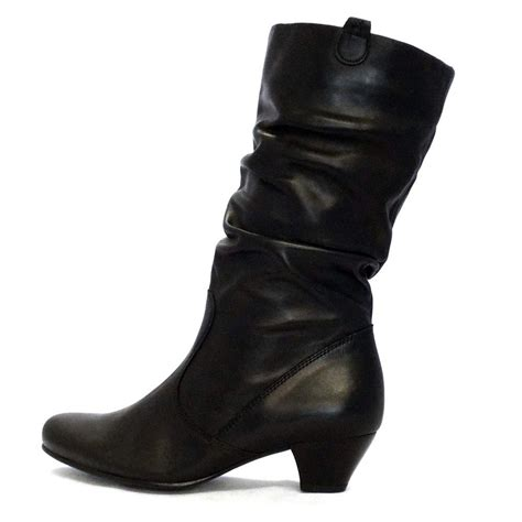 s black boot gabor boots slouch mid boot in black mozimo