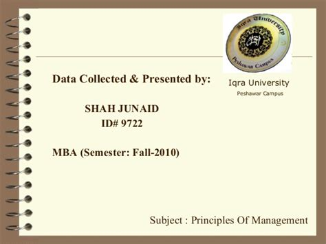 When Will Iqra Mba Semsters Starts by Manager Born Or Made