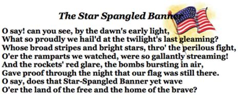 printable version of star spangled banner learn me music september 2012 music and technology in