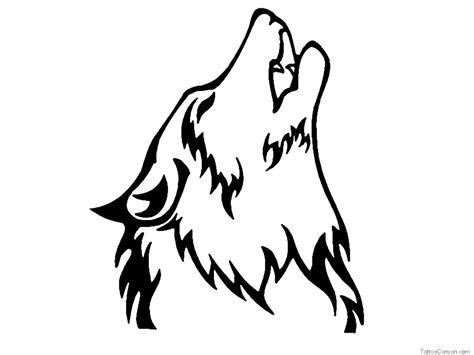 proud howling wolf head tattoo howling wolf drawing wolf bilder zum ausmalen my