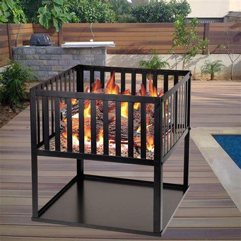 Wood Burning Garden Heater Garden Wood Log Burning Basket Pit Outdoor Patio