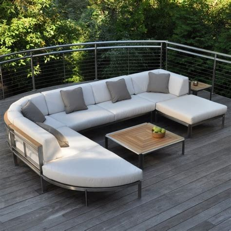 metal outdoor sectional kingsley bate tivoli stainless steel and teak seating