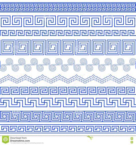 greek pattern brush set of brushes to create greek meander patterns stock