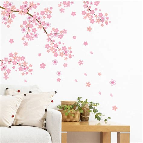 Wallsticker Wall Sticker Stiker New Flower Bunga Merah Cantik aliexpress buy pink flying vine flower backdrop living room decoration wallpaper