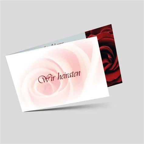 Hochzeitseinladungen Rot by Hochzeitseinladung Rosenzauber Rot