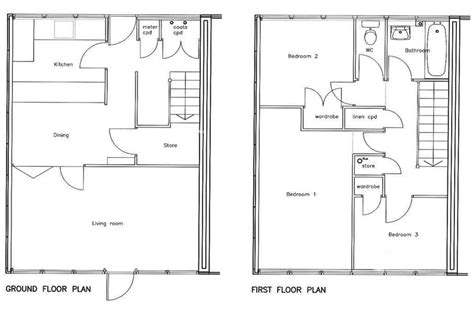 Three Bedroom House Plans Bedroom House Floor Plan Bedroom Three Bedroom Floor Plan House Design
