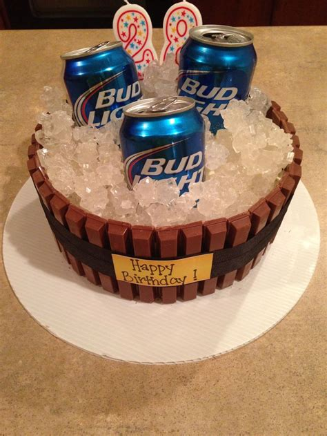 beer cake beer cake made from kit kats and rock candy so easy