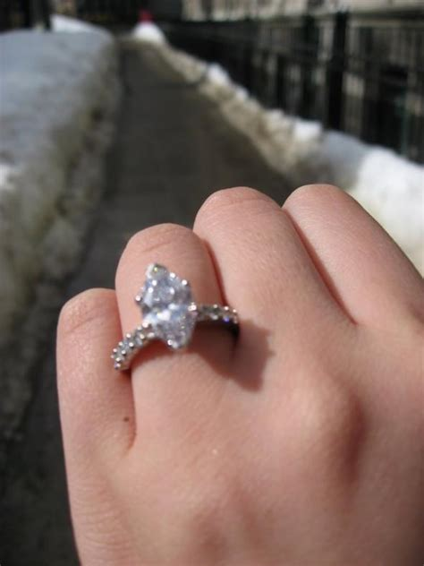 show your marquis cut e ring with or without wedding