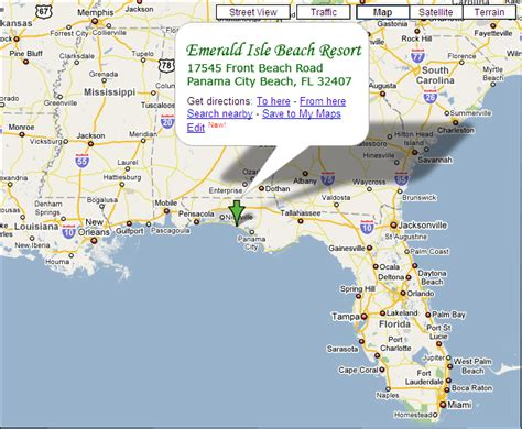 florida emerald coast map directions map emerald isle resort fl emerald