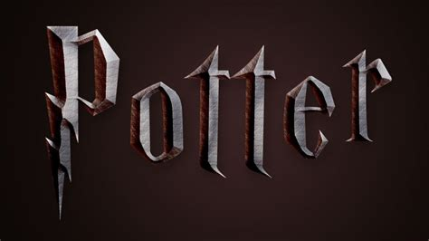 tutorial logo xl harry potter style text effect in photoshop