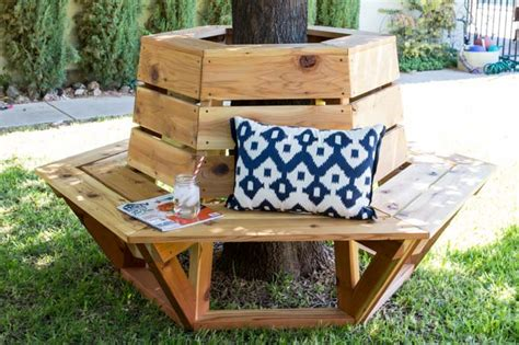 tree bench plans free how to build a hexagon cedar bench addicted 2 diy