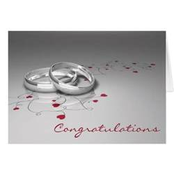 congratulations wedding card wedding congratulations card zazzle