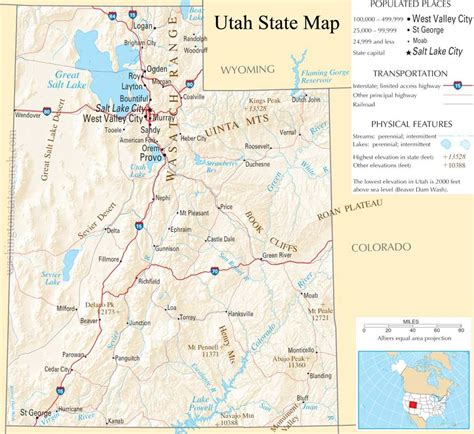 Utah State Search Utah State Map A Large Detailed Map Of Utah State Usa