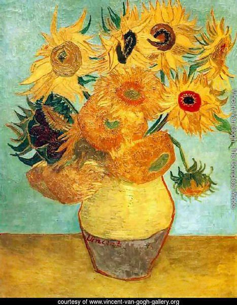 vincent gogh vase with twelve sunflowers vincent gogh the complete works vase with twelve