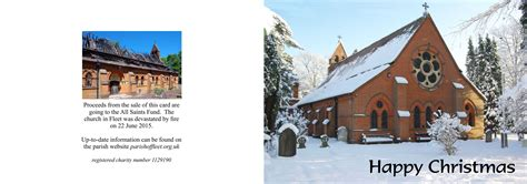 All Saints Gift Card For Sale - order your all saints christmas cards parish of fleet