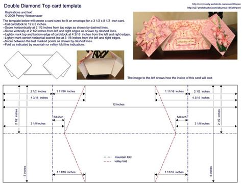 top fold card template 517 best cards folding techniques images on