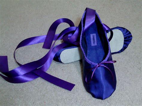 purple ballet slippers purple satin ballet slippers sole