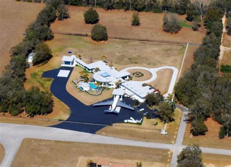 florida memory aerial view overlooking the home of