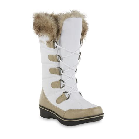 white boots for athletech s zonnie white winter boot