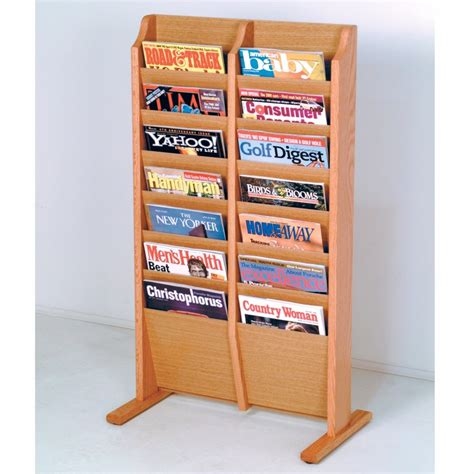 floor stand cascade magazine rack literature and 26