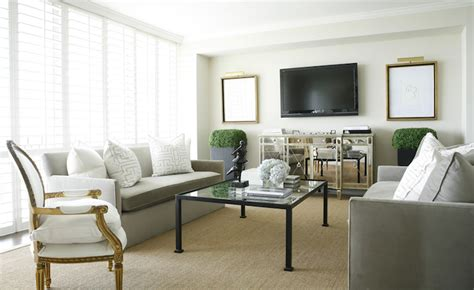 Mirrored Tv Cabinet Living Room Furniture Mirrored Media Cabinet Transitional Living Room Goforth Design