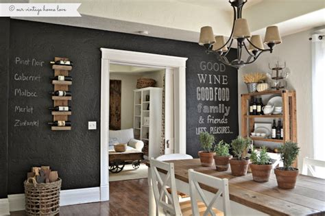 our vintage home love how to build a rustic kitchen table our vintage home love chalkboard wall