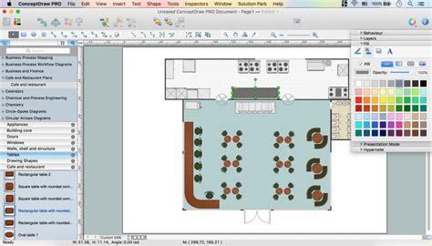 cafe floor plans caf 233 floor plan design software professional building
