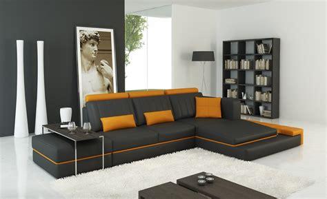 divani casa  modern dark grey  orange bonded