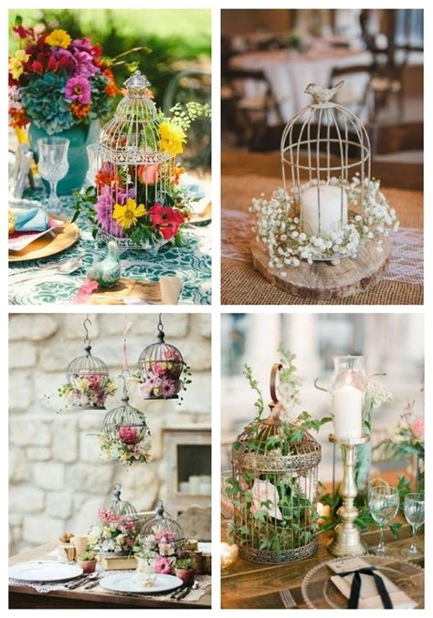 33 Elegant Birdcage Wedding Centerpieces Happywedd Com Birdcage Centerpieces Weddings