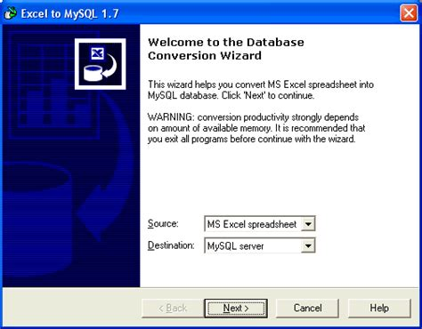 Convert Excel Spreadsheet To Database by Excel To Mysql Convert Xls To Mysql Database