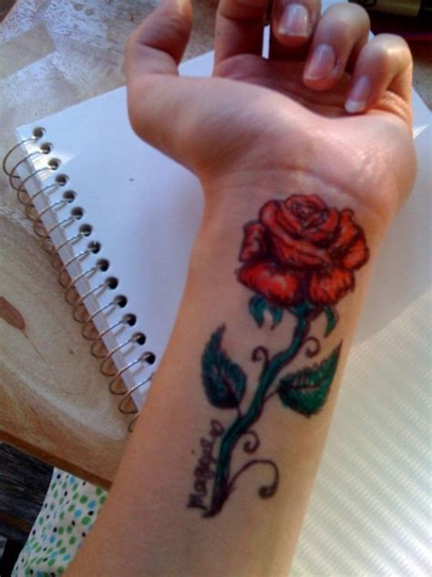 rose tattoo add on 52 wrist tattoos