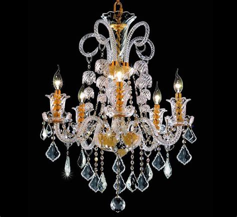 Large Glass Chandelier Elizabeth Collection 5 Light Large Chandelier Grand Light