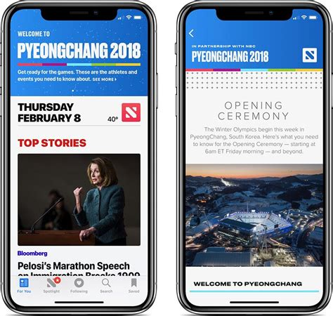 apple news apple news introduces coverage portal of 2018 winter