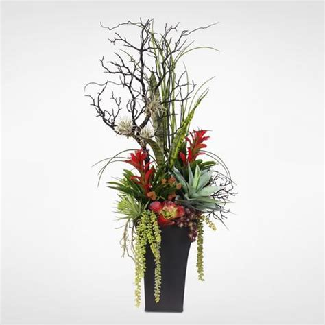 silk flower arrangements artificial orchid peony