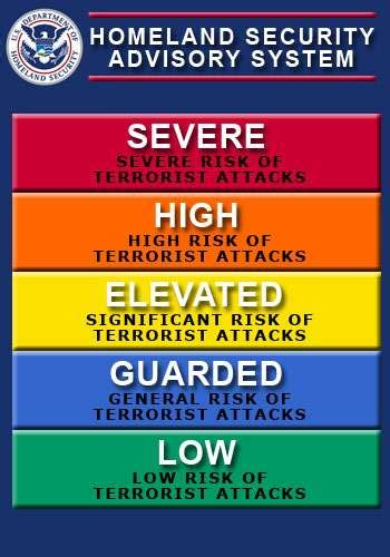 terror threat level colors color coded threat level advisory attack wired
