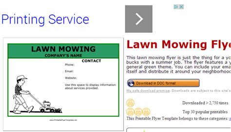 free printable lawncare card templates 5 lawn mowing flyer templates af templates