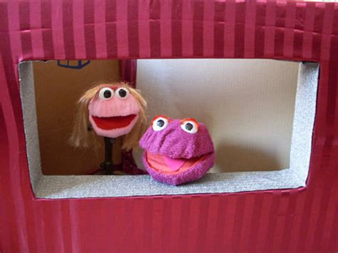 How To Make A Puppet Out Of A Paper Bag - cardboard puppet stage